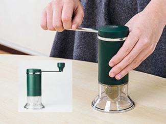 【MILLU セラミックお茶ミル】 茶葉が香り立つ贅沢。挽きたてをお料理に。