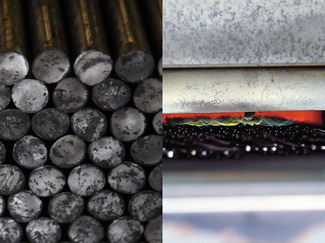 材料と熱処理は工具の命 工具の耐久性を決めるのは、優れた材料を使い、それを高精度で加工すること、そしてその熱処理で決まります。マルト長谷川では、大手製鋼メーカーにマルトだけの特別な材料・マルトロイ(商標)をつくってもらい、それを加工しています。そして熱処理に手間と時間を惜しみません。このこだわりがマルト長谷川の製品に命を吹き込み、品質が決まるのです。