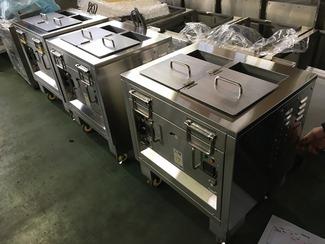 個別分散対応厨房機器 今や、コンビニなどの店舗内でも調理機器を使いつつあります。加えて、喫茶店や小規模飲食店では様々な調理品を提供するようになる個別分散対応厨房機器が求められるようになり、ハイサーブウエノはその最先端厨房機器を開発していきます。